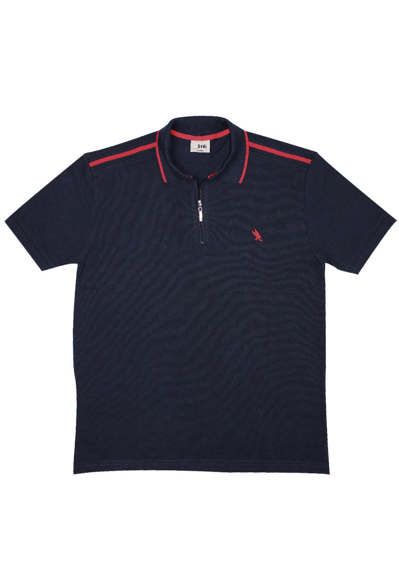 STIK Shoulder Block Zip Polo