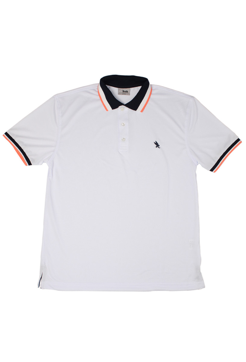 STIK DryFit Ribbed Neon Neck Polo